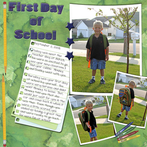 My First Day of Preschool