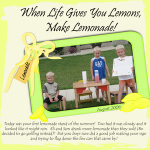 Lemonade for Sale!
