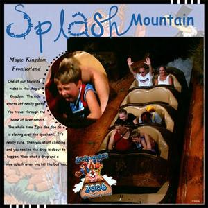 Disney Album Splash Mountain