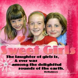 Sweet Girls-Color Challenge 2/3/07