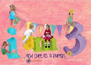 for Arianna's 3rd Birthday card