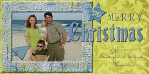 Beachy Christmas Card Picture