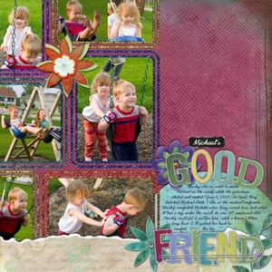 6/25 Laurel Lakey scraplift challenge: Michael's Good Friend