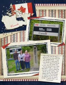 Monday Challenge - 6/17 - Scrap Anything - Canadian Border Day 1