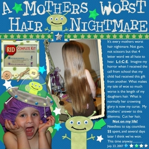 A Mother's Worst Hair Nightmare !