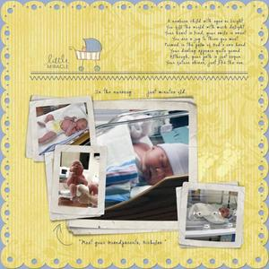 Baby Nicholas' First Month