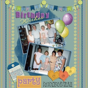 Sept Slow Scrap Wk4 - Birthday Wishes
