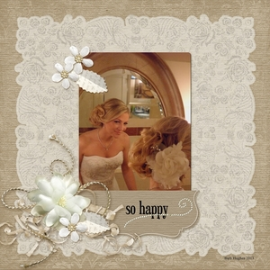 Happy in the Mirror- wedding memory