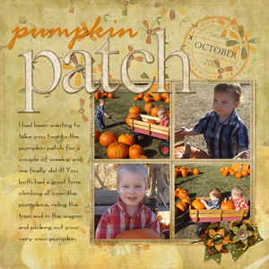 My Boys at the Pumpkin Patch
