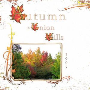 Autumn in Union Mills