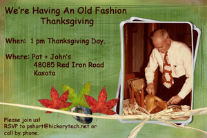 An Old Fashion Thanksgiving