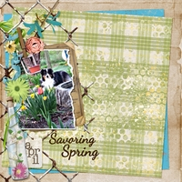 Friday Scrap-Lift Challenge - Savoring Spring