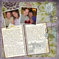 2/20 Color Challenge - friendship - Dear Diary