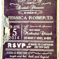 Jessica's Bridal Shower Invitation