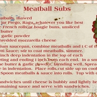 Meatballs Subs