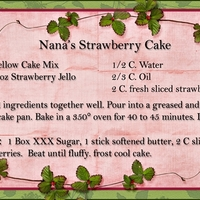 Nana's Strawberry Cake