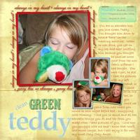 Clean Green Teddy