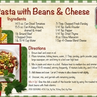 Pasta with Beans & Cheese