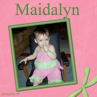 Maidalyn in Daddy's Chair