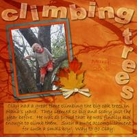 Climbing Trees-Jan 24 Color Challenge