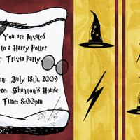 Harry Potter Invitation