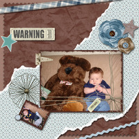 Warning...Too Cute, 2/23/08 Color Challenge
