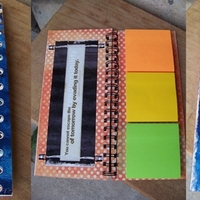 Hybrid Post it Note Book
