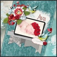 Ava: Pretty Red Flower