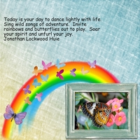 Tuesday 5-22-12 Freebie Challenge -- Rainbows & Butterflies
