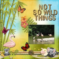 Friday 2-15-13 Scraplift Challenge -- Not So Wild Things