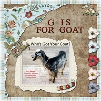 Monday 7-23-12 Challenge -- G Is For Goat