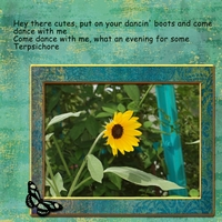 Tuesday 8-21-12 Freebie Challenge -- Dancing Sunflower