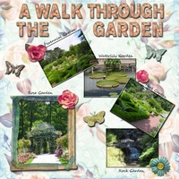 Friday 8-23 Scraplift Challenge -- A Walk In The Garden