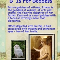 G Is For Goddess