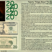 Twenty Things about the $20 Dollar Bill