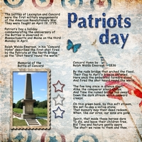Saturday 7-7-12 Color Challenge -- Patriots Day
