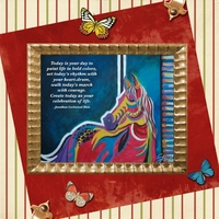 Saturday 12-1-12 Color Challenge -- Carousel Horse