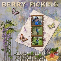 July Swap For Kim  --  Berry Picking