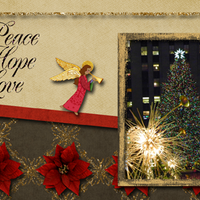 Merry And Bright Christmas Card -- Weekend Challenge 12-19-15