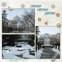 Snow Day At The Botanical Garden