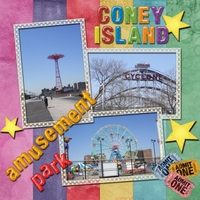 Saturday 7-30-11 Color Challenge -- Coney Island