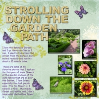 Task #5 -- Strolling Down The Garden Path