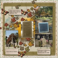 Week Four Layout -- Sleepy Hollow Cemetery