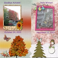 Tuesday 11-12-13 Freebie Challenge -- Goodbye Autumn