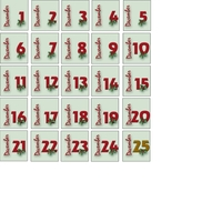 Framed Advent Calendar Dates