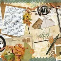double page love letters
