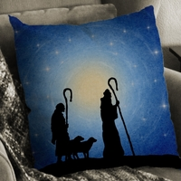 Printable Silent Night Shepherds as a Pillow!