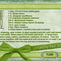 July Recipe Swap - Crunchy Pea Salad
