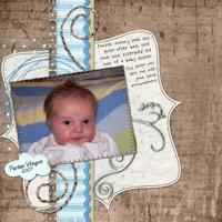 Freebie Challenge - - 04/28 - Parkers Birth Announcement Pho