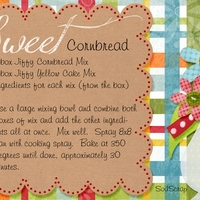 Sweet Cornbread October 2012